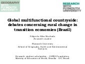 Global multifunctional countryside: debates concerning rural change in transition economies (Brazil)