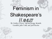 Feminism in shakespeare's hamlet