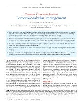 Femoroactabular impingement