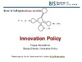 Innovation Policy by Fergus Harrade...