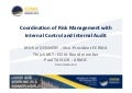 FERMA Panel Debate -  Coordination of Risk Management with Internal Control and Internal Audit