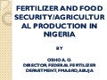 Fertilizer and Food Security: Agricultural Production in Nigeria