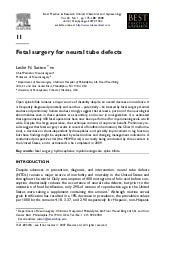 Fetal surgery for neural tube defects