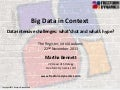 Big Data in Context