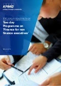 Finance for Non-Finance Executives - 2 day programme