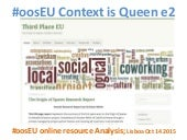 #oosEU Toolbox Resource Analysis; Origin of Spaces project