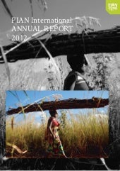 FIAN Annual Report 2012