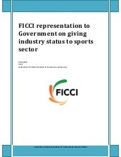 Ficci demand for Industry Status to...