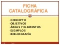 Areas de una Ficha catalográfica
