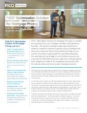 FICO® Optimization Solution for Mortgage Pricing