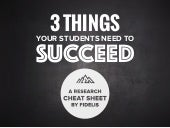3 Things Students Need to Succeed