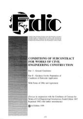 Fidic conditions of subcontract agr...
