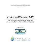 PIOGA & MSC Field Sampling Plan to ...