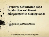 Property, sustainable food production and forest management in sloping lands
