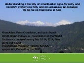 Understanding diversity of smallholder agro-forestry and forestry systems in hilly and mountainous landscapes: regional comparisons in Asia