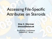 Accessing File-Specific Attributes o...
