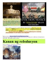 Filipino   Right of REVOLUTION & Po...