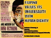 DUMAUG: FILIPINO VALUES: ITS UNIVER...