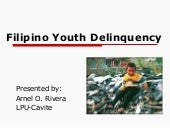 Filipino youth delinquency