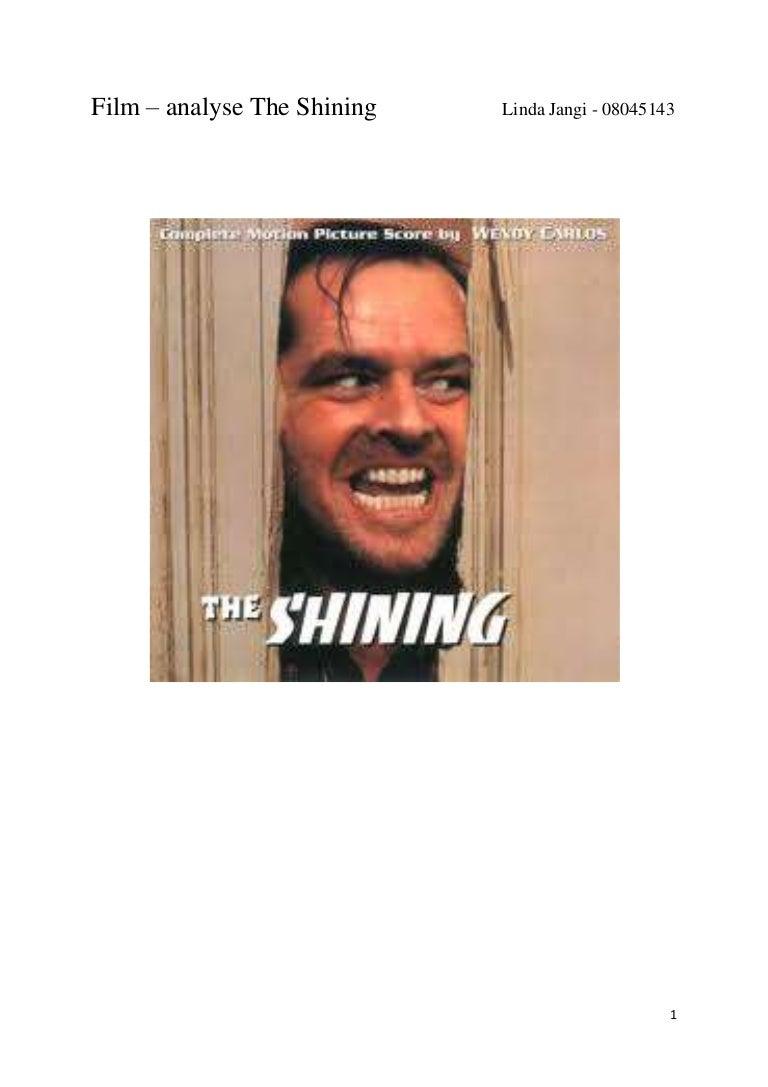 Film analyse the shining