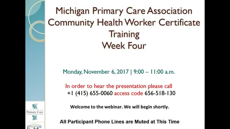 MPCA Community Health Worker Certificate Training - Week 4