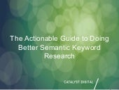 The Actionable Guide to Doing Better Semantic Keyword Research #BrightonSEO (with KNIME)