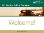 12th Annual Seminar on Professional...
