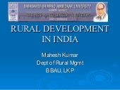 Final rural-development-in-india