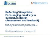 Viewpoints at the Ulster eLearning ...
