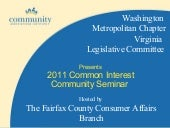 2011 Fairfax County Common Interest...