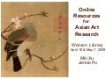 Online Resources for Asian Art Research at the Metropolitan Museum of Art