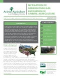 Mitigation of greenhouse gas emissions in animal agriculture