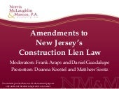 Amendments to New Jersey\'s Constru...