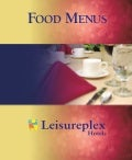 Leisureplex menu