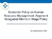The Minimum Wage