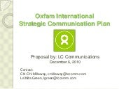Nonprofit Communication Plan: Oxfam...