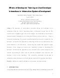 Effects of Developers' Training on User-Developer Interactions in Information Systems Development