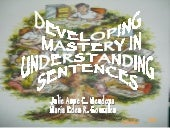 Developing Mastery In Understanding...