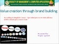 value creation through brand building