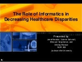 Decreasing Health Disparities