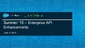 New Powerful API Enhancements for Summer '15