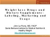 Weight Loss Drugs and Dietary Suppl...