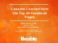 Lessons Learned From The Top 40 Facebook Pages
