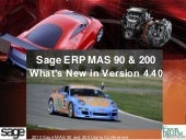 Whats New In Sage MAS 90 ERP 440