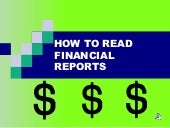 Financial Report Literacy Fall 2011