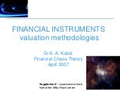 FINANCIAL INSTRUMENTS: valuation me...