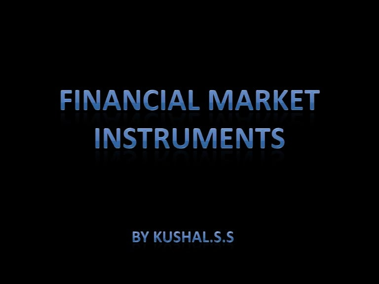 Financial instruments in the capital markets generally fall under what category in the Balance Sheet? ?