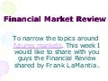 Financial Market Review