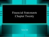 Financial Statements, Chapter 20