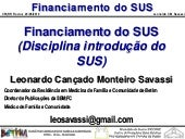Financiamento do SUS 2010